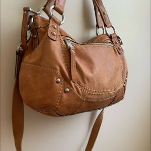 Fossil vintage 1954 leather handbag